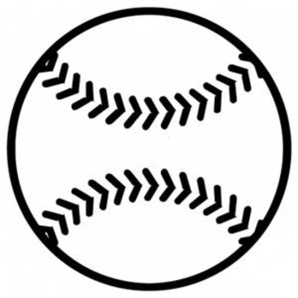 Ball Black and White Baseball - Baseball Clipart Black And White