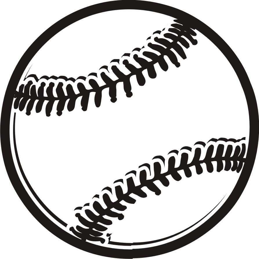 Baseball black and white base - Baseball Clipart Black And White
