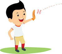 boy playing baseball clipart. Size: 78 Kb