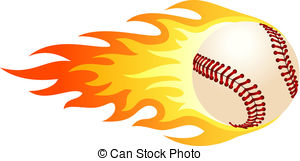 . ClipartLook.com Flaming baseball - Illustration of ball in fire for your.