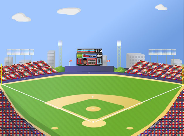 baseball field vector .