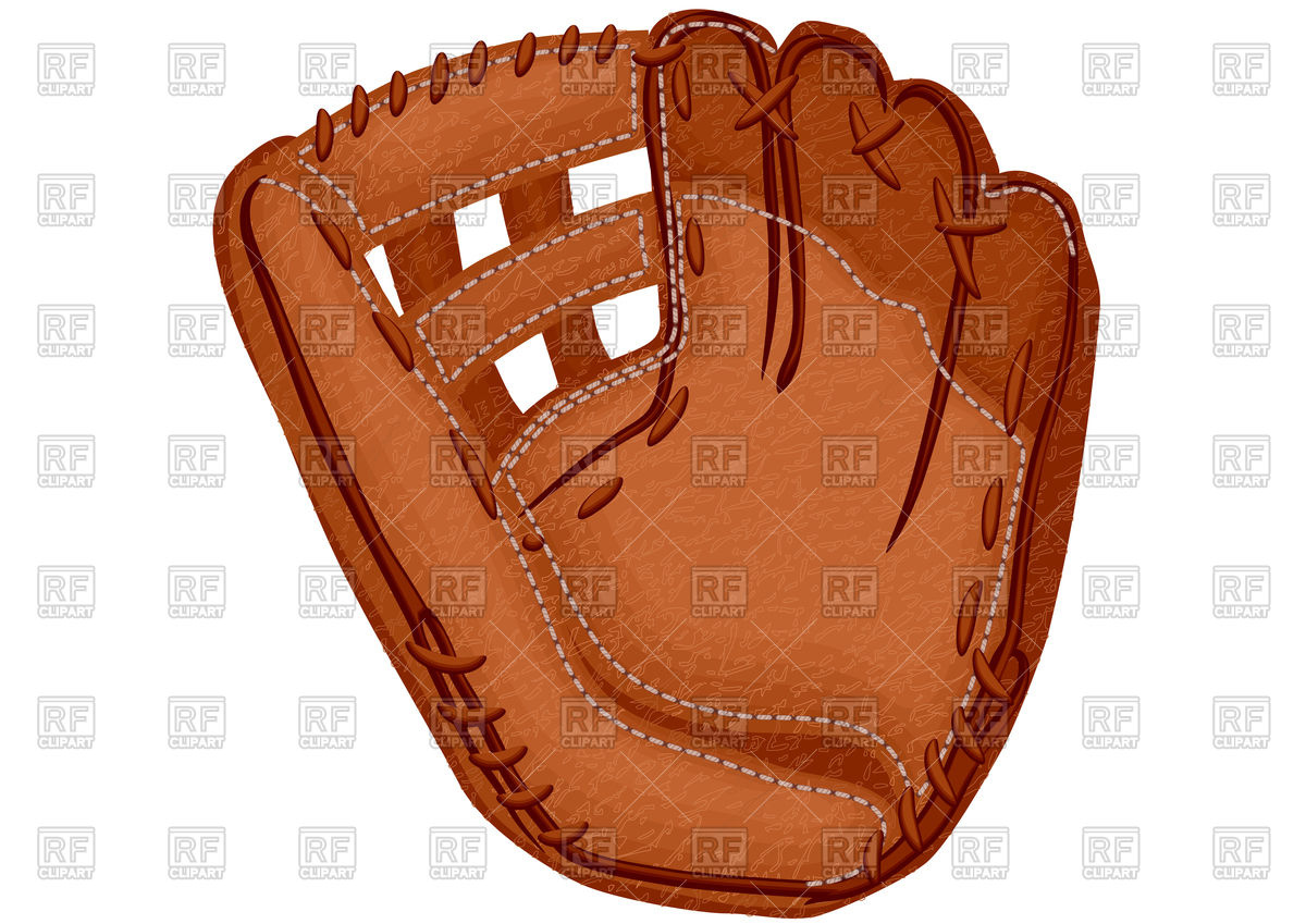 Baseball glove Royalty Free Vector Clip Art