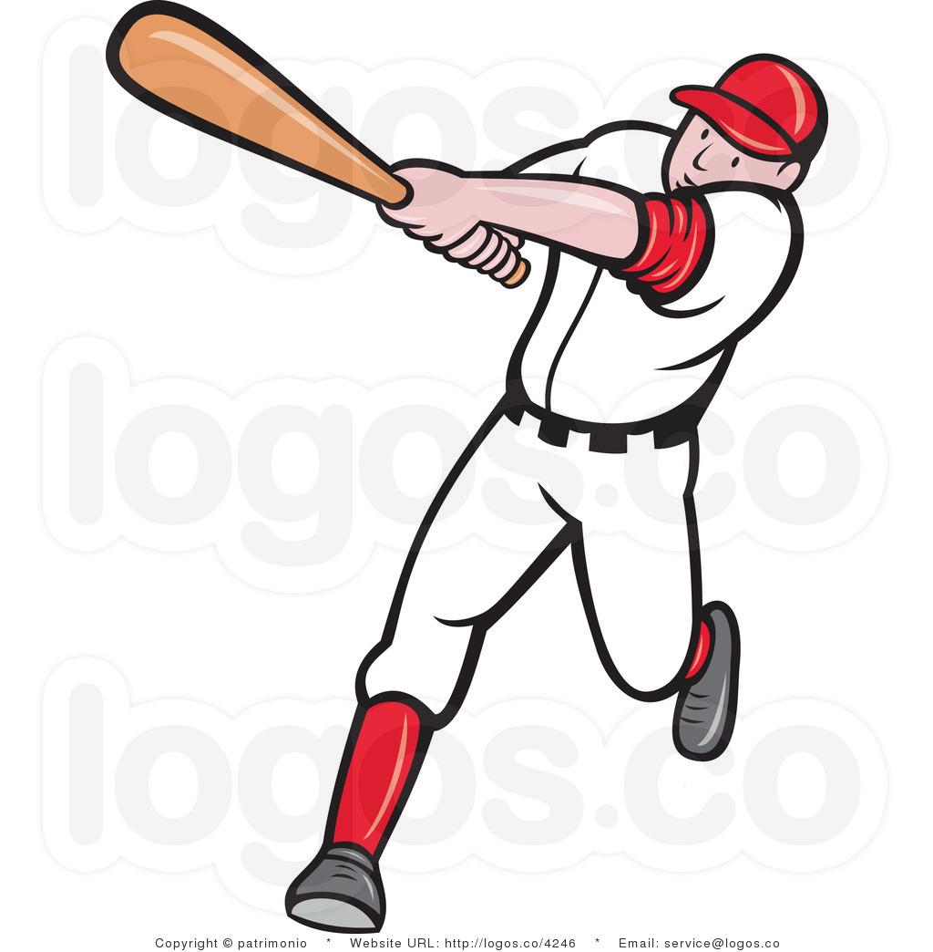 Baseball Player Clipart .