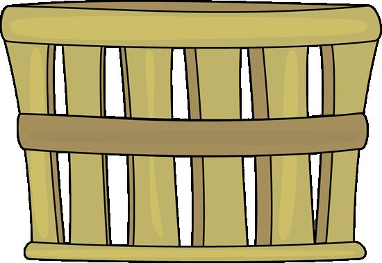 Basket Clip Art Image - old brown basket typically used for apple bushels.