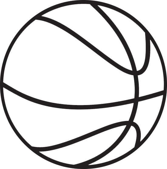 550x555 Basketball Clipart Black And White Many Interesting Cliparts