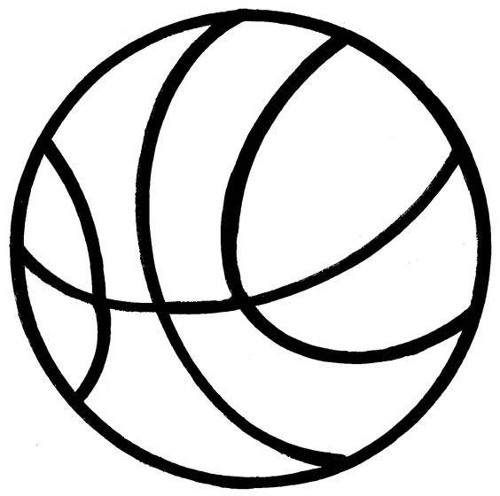 Basketball clipart black and  - Basketball Clipart Black And White