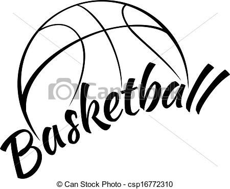 Basketball court clipart black and