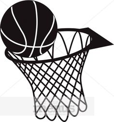 Excellent Images For - Basketball Hoop Side View Clipart Black And .