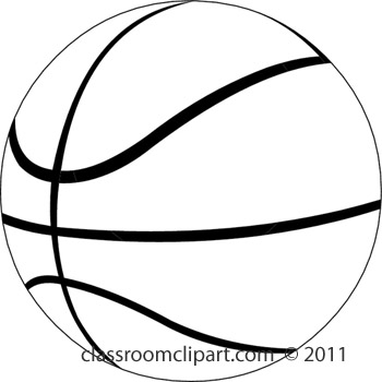 Free basketball clip art black and white basketball clip clipart 4
