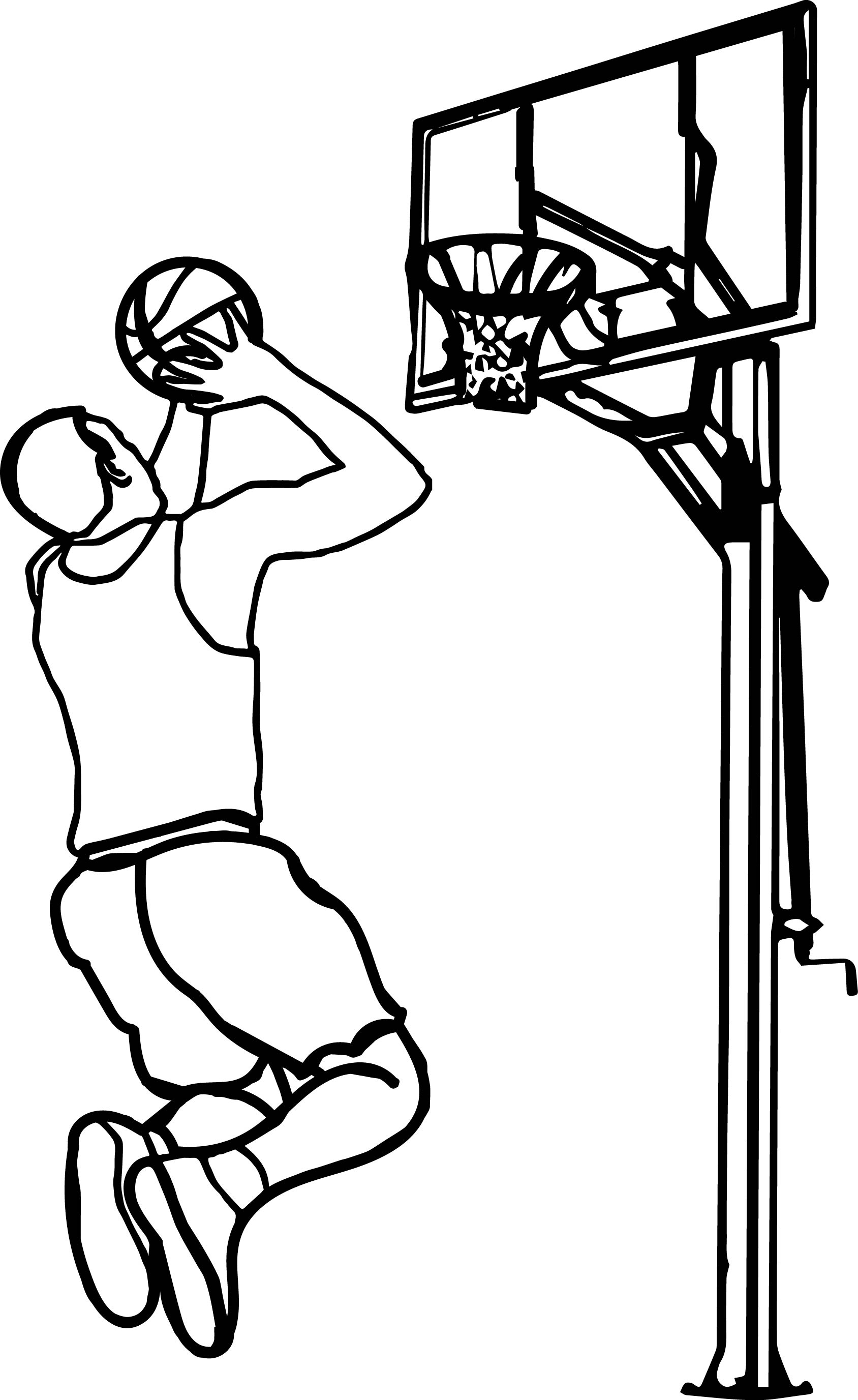 Outline Playing Basketball Clipart · Children Playing Basketball Clipart  Black And White