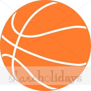 Orange Basketball Clipart