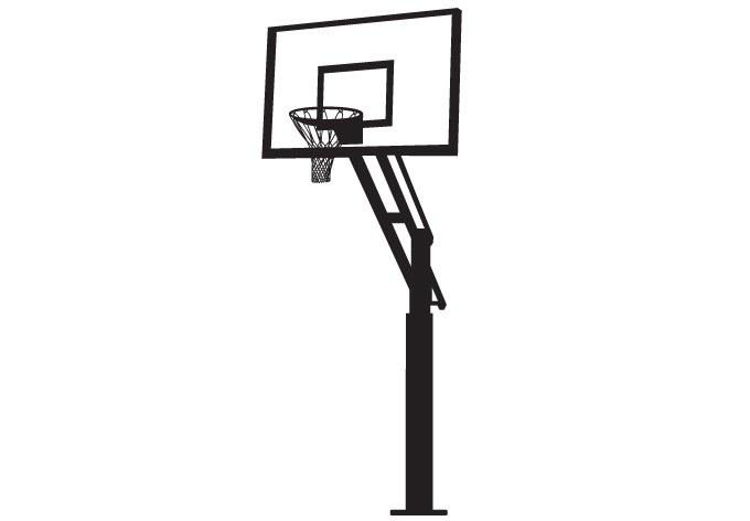 Basketball Hoop Clipart Black Backboard