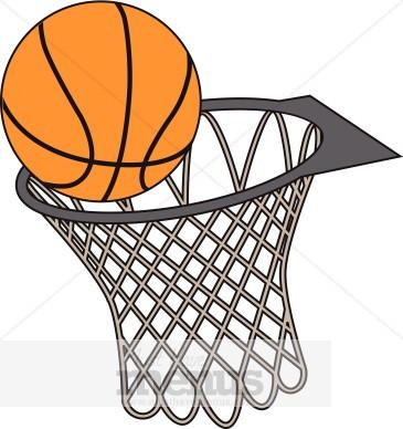 Basketball Hoop Clipart .