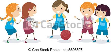 Basketball Girls - csp8696597