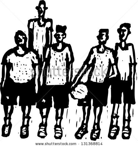 Basketball Team Clipart Black And White - Clipartxtras inside Team Clipart  Black And White
