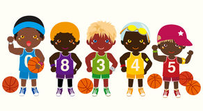 Basketball Teams. Vector illustration of basketball team Royalty Free Stock  Image