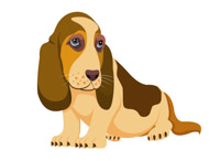 basset hound clipart. Size: 60 Kb From: Dog Clipart
