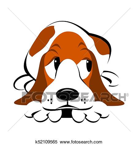 Clipart - Basset Hound Cartoon. Fotosearch - Search Clip Art, Illustration  Murals, Drawings