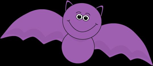 Bat Clip Art Image Cute Purple Halloween Bat With A Cute Smiley Face