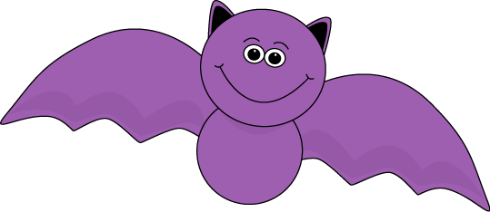 Bat Clip Art Image Cute Purple Halloween Bat With A Cute Smiley Face