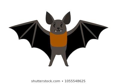 Bat. Vampire bat vector illustration scary halloween flying icon isolated  on white background
