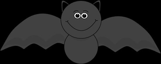 Cute Halloween Bat Clipart #1