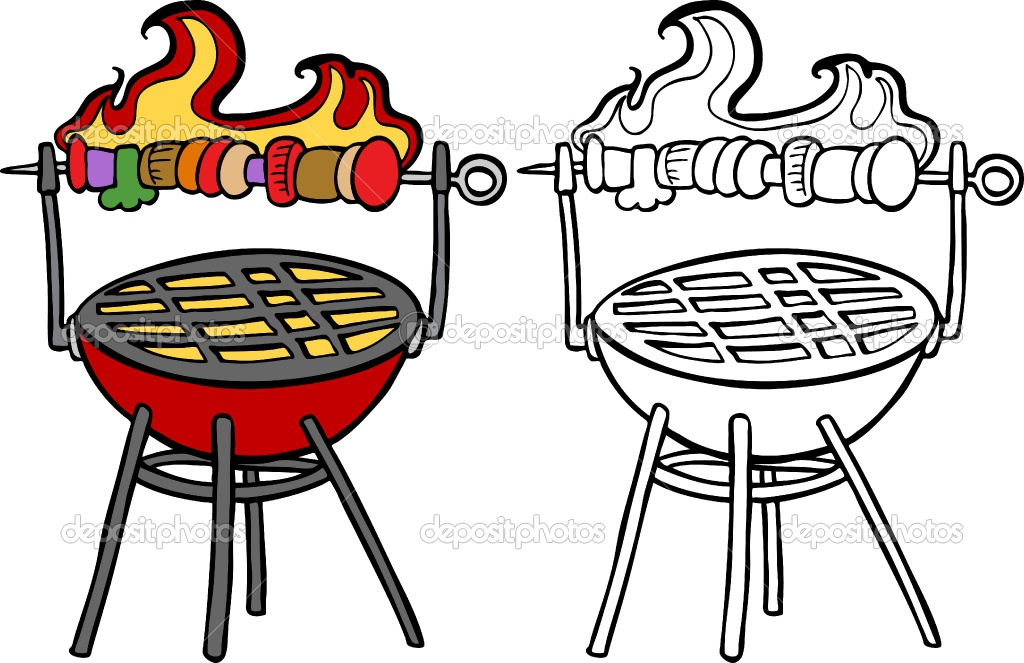 Bench clipart bbq #3