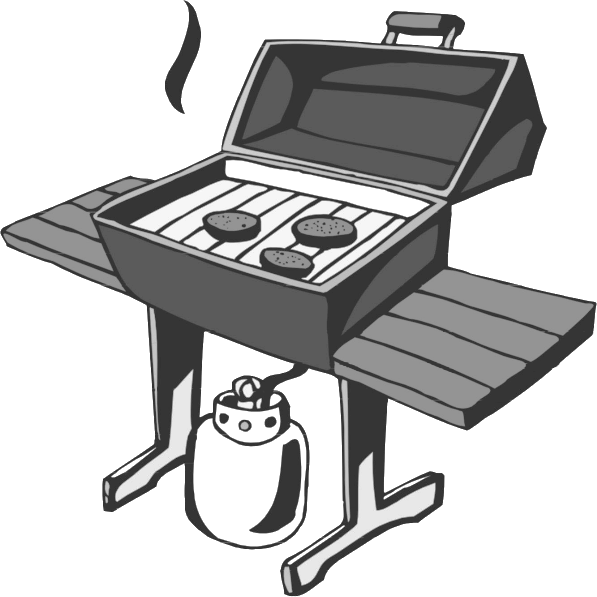 Bbq Grill Bw Http Www Wpclipart Com Household Odds And Ends Bbq