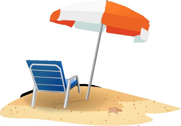 beach chair clipart black and white