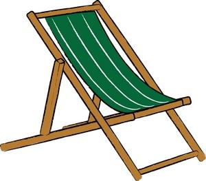 Beach Chair Clipart Image Simple Beach Chair