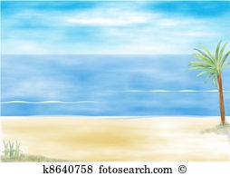 Beach resort scene