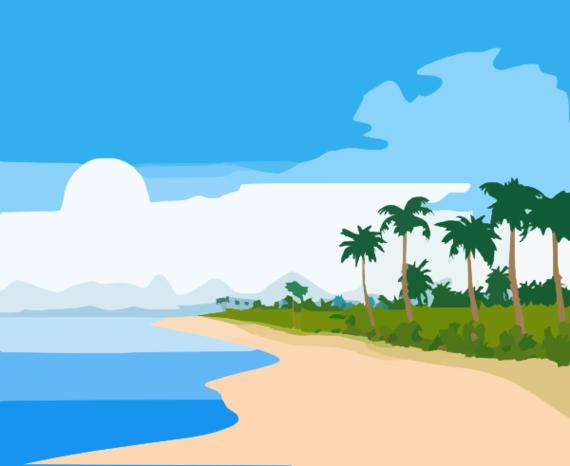 ... Beach Scene Clip Art - clipartall ...