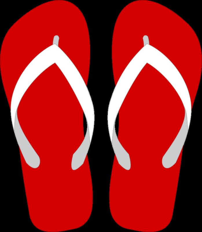 Beach Slippers Clip Art