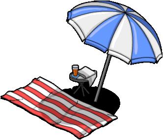 pin Umbrella clipart beach to - Beach Towel Clipart