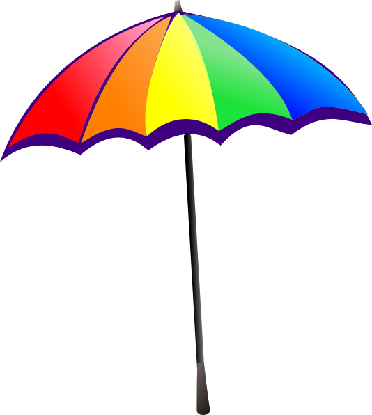 Beach Umbrella Clipart Black And White Clipart Panda Free Clipart