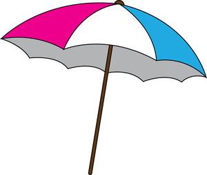 Beach Umbrella Clipart Image: .