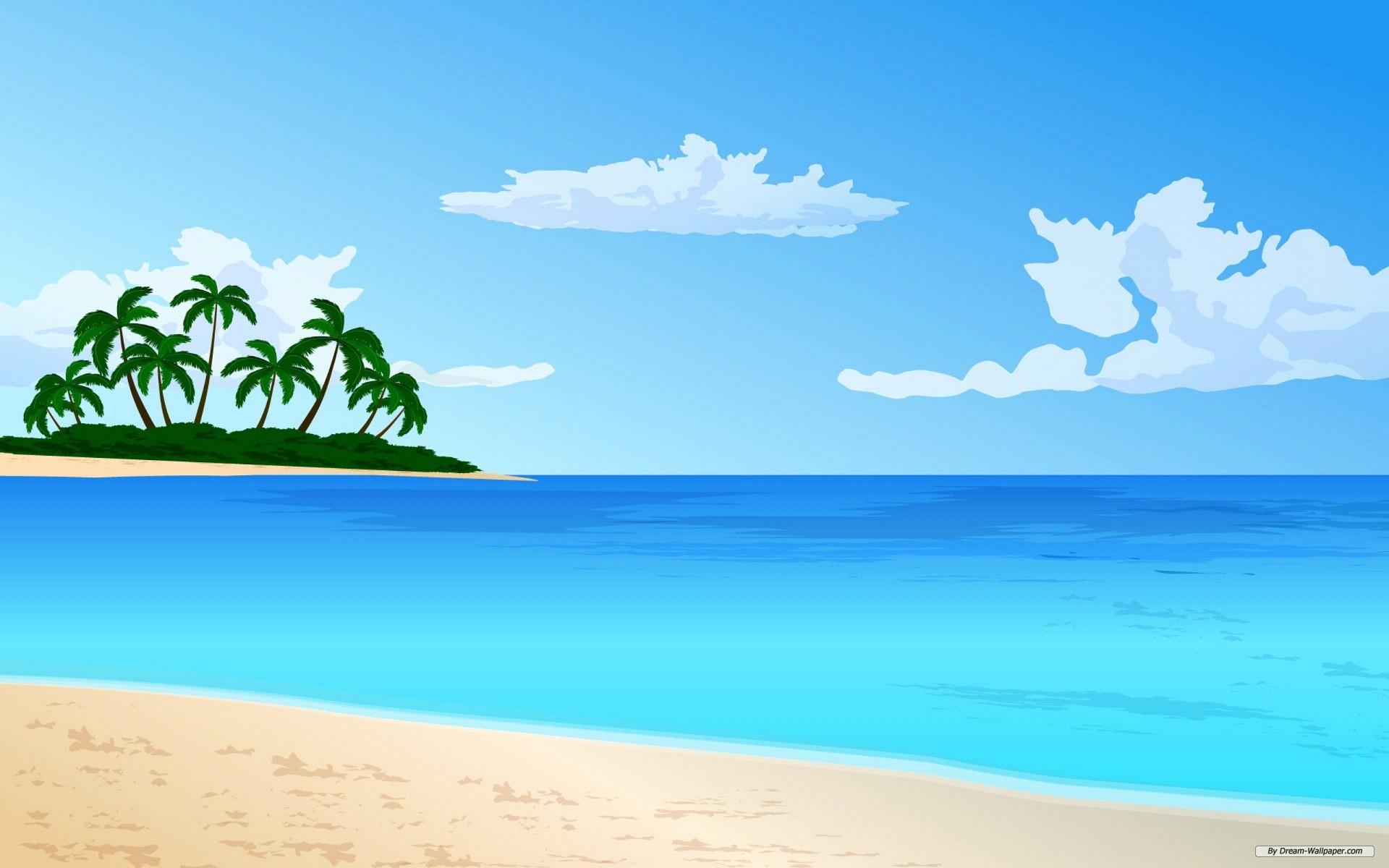 Beach vector art clipart