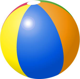 Beach ball clipart