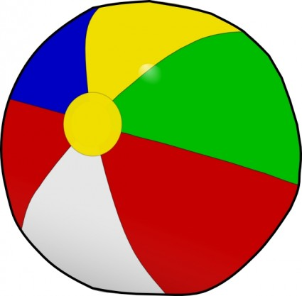 Beach Ball Free Clipart #1