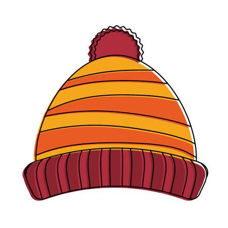 Beanie winter hat icon vector - Beanie Clipart