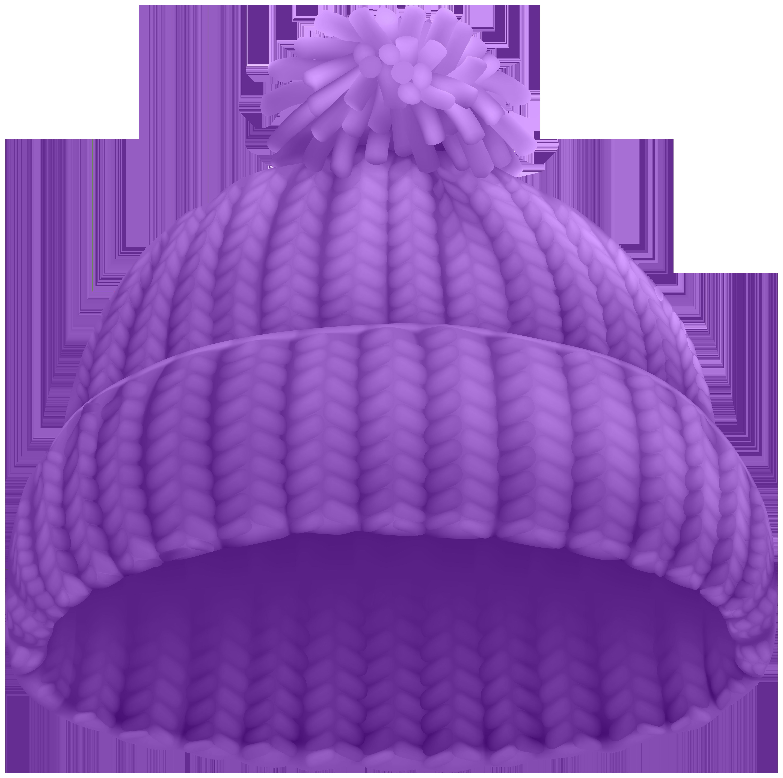 Purple Winter Hat PNG Clip Art Image