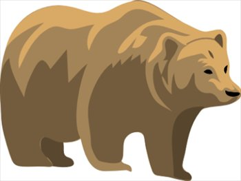 Free clip art black bear .