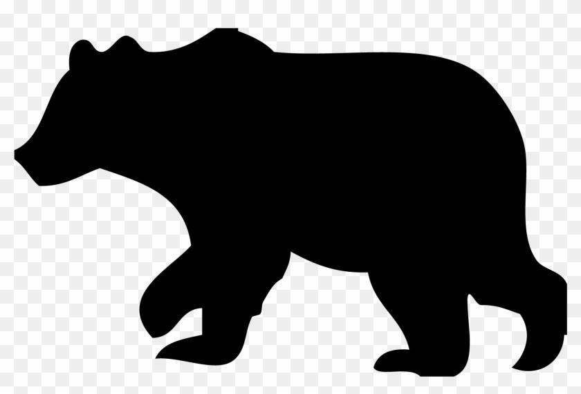 Black Bear Clipart Outline - Black Bear Silhouette Clip Art #345627