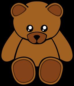 Vector illustration of cute crying teddy bear