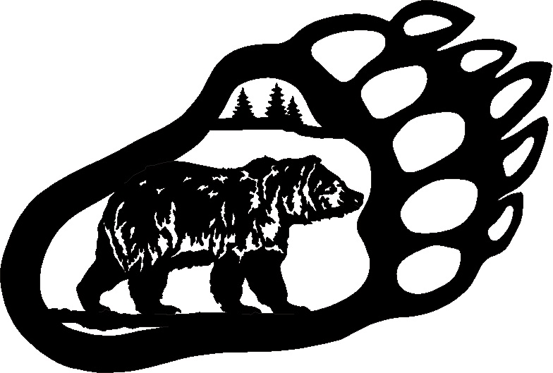 Bear Paw Drawing Clipart