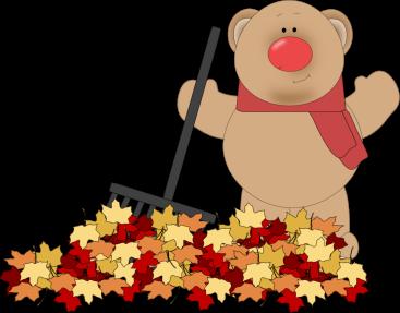 Bear Raking Leaves
