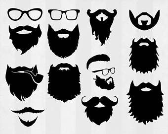 Beard SVG Bundle, Beard clipa - Beard Clipart