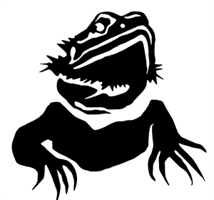 Bearded Dragon Portrait Decal / Sticker