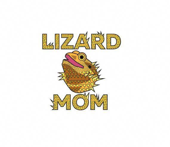 LIZARD MOM CLIPART - lizard art, bearded dragon art, bearded dragon clipart,  bearded
