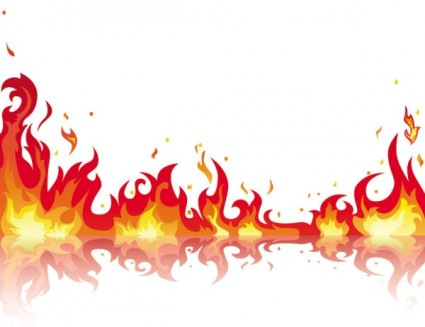 Beautiful Flame Vector Clip 05 Free Vector In Encapsulated Postscript